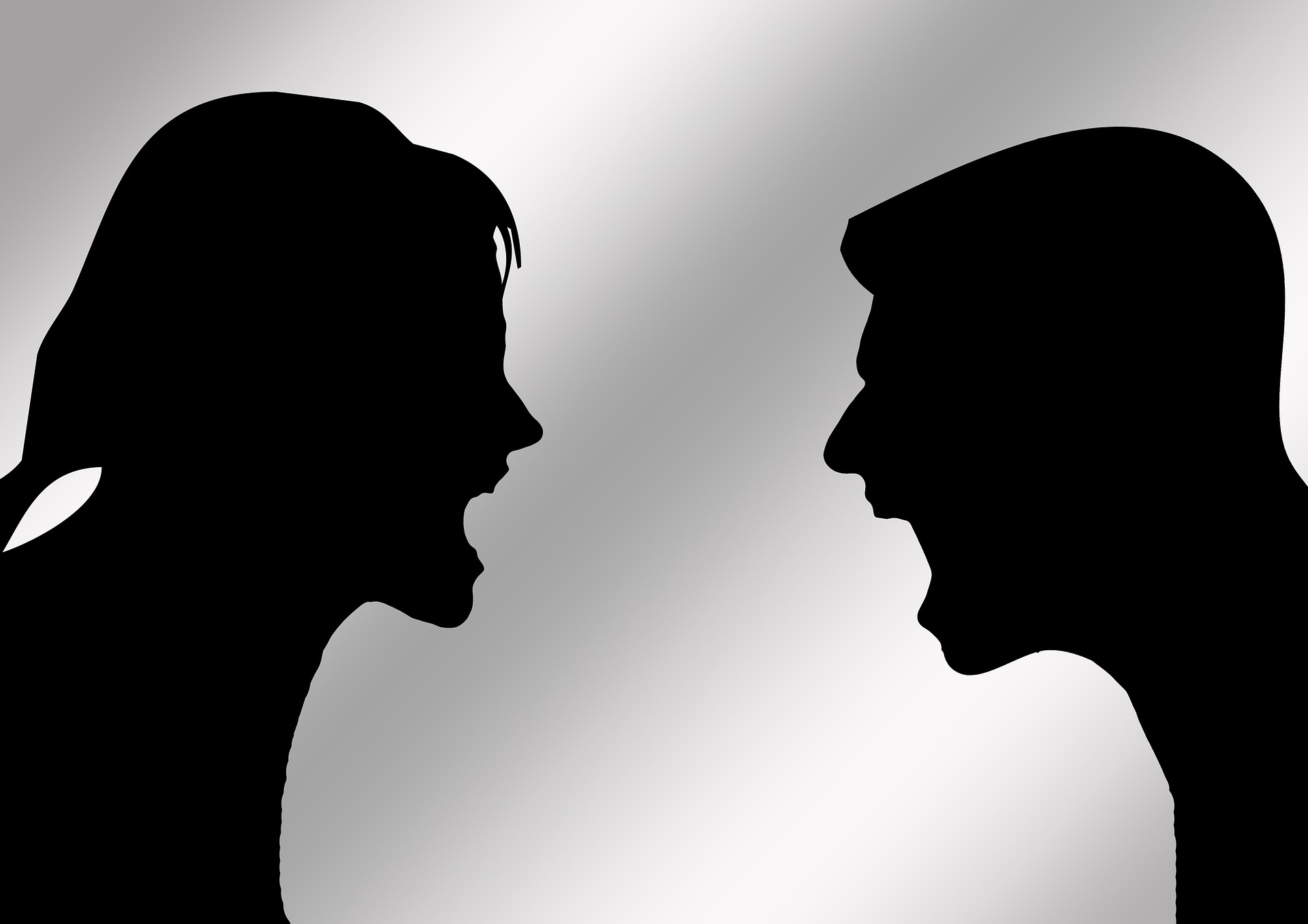 high conflict relationship from man and woman arguing with each other