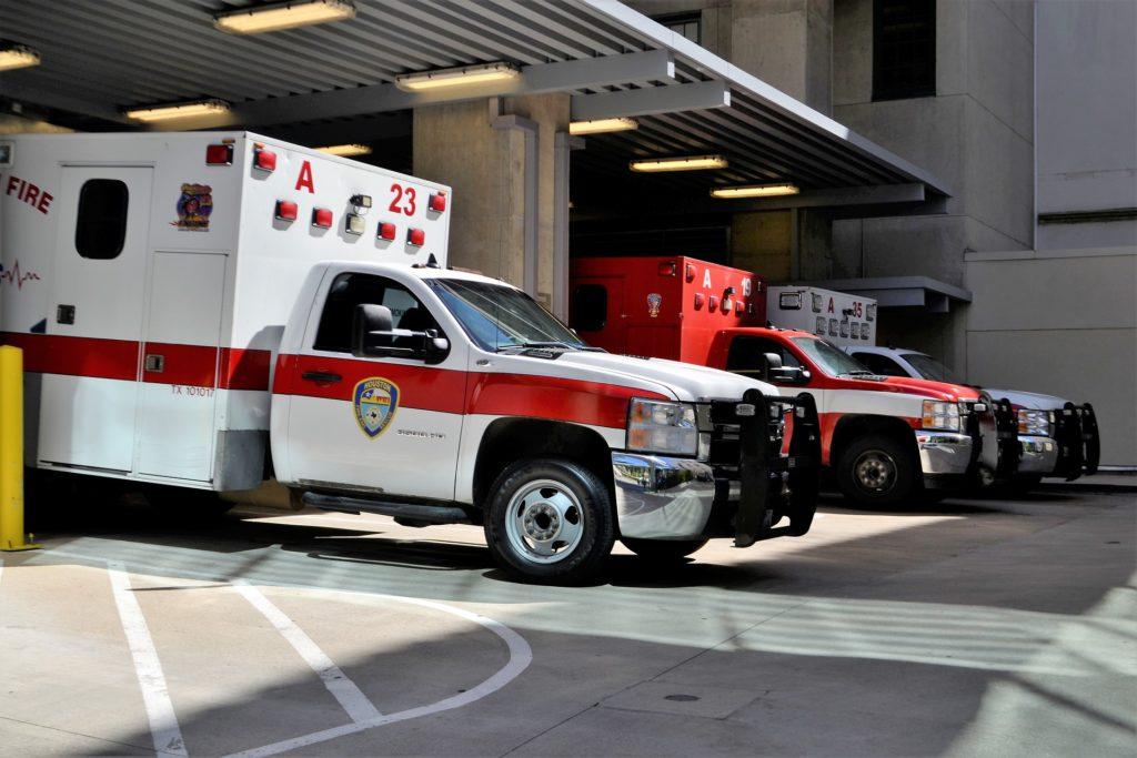 EMT ambulance vehicle